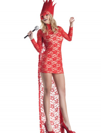 Red Lace Popstar Costume, halloween costume (Red Lace Popstar Costume)