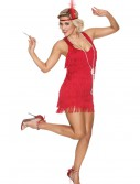 Red Lindy Lace Flapper Costume, halloween costume (Red Lindy Lace Flapper Costume)