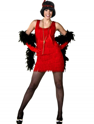 Red Plus Size Flapper Dress, halloween costume (Red Plus Size Flapper Dress)
