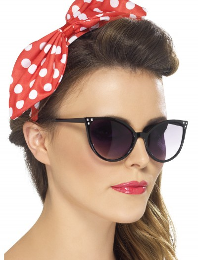 Red Polka Dot Pin-Up Bow on Headband, halloween costume (Red Polka Dot Pin-Up Bow on Headband)