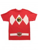 Red Power Ranger Costume T-Shirt, halloween costume (Red Power Ranger Costume T-Shirt)