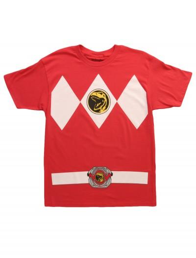 Red Power Ranger Costume T-Shirt, halloween costume (Red Power Ranger Costume T-Shirt)