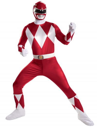 Red Ranger Super Deluxe Adult Costume, halloween costume (Red Ranger Super Deluxe Adult Costume)
