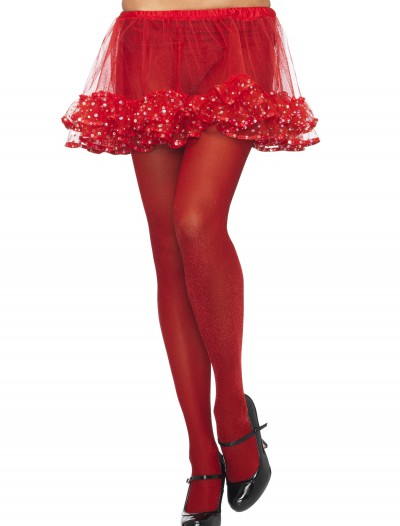 Red / Red Sparkle Tights, halloween costume (Red / Red Sparkle Tights)