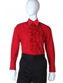 Red Ruffled Tuxedo Shirt, halloween costume (Red Ruffled Tuxedo Shirt)