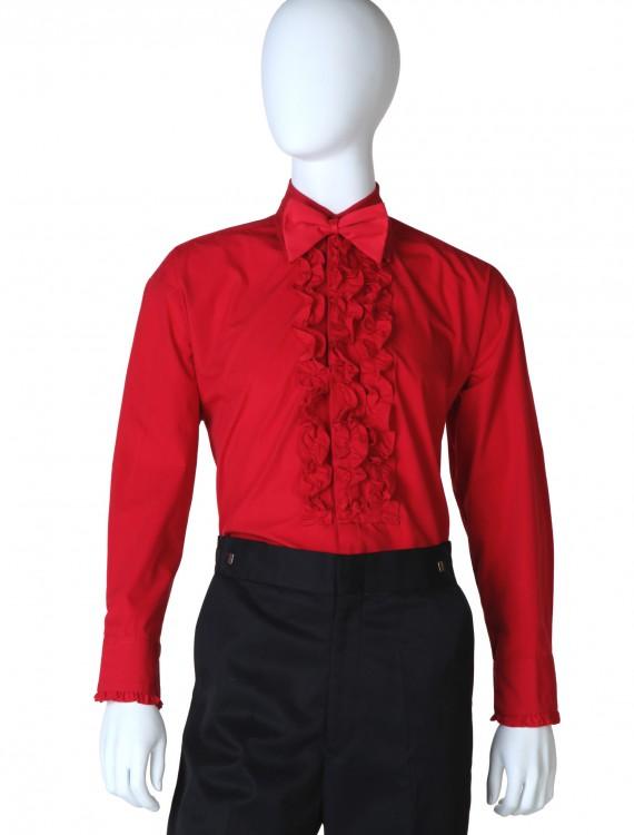 Red Ruffled Tuxedo Shirt, halloween costume (Red Ruffled Tuxedo Shirt)
