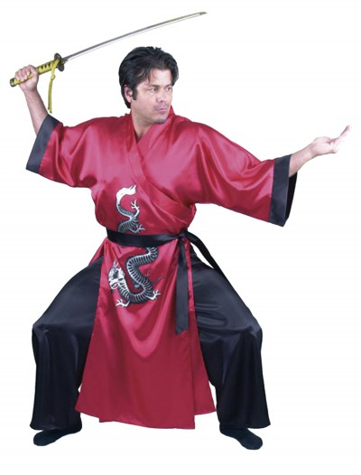 Red Samurai Adult Costume, halloween costume (Red Samurai Adult Costume)