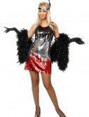 Red/Silver/Black Sequin Flapper Costume, halloween costume (Red/Silver/Black Sequin Flapper Costume)