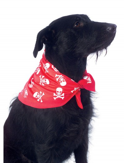 Red Skulls and Bones Bandana Pet Costume, halloween costume (Red Skulls and Bones Bandana Pet Costume)
