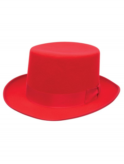Red Wool Top Hat, halloween costume (Red Wool Top Hat)