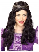 Renaissance Girl Black Wig, halloween costume (Renaissance Girl Black Wig)
