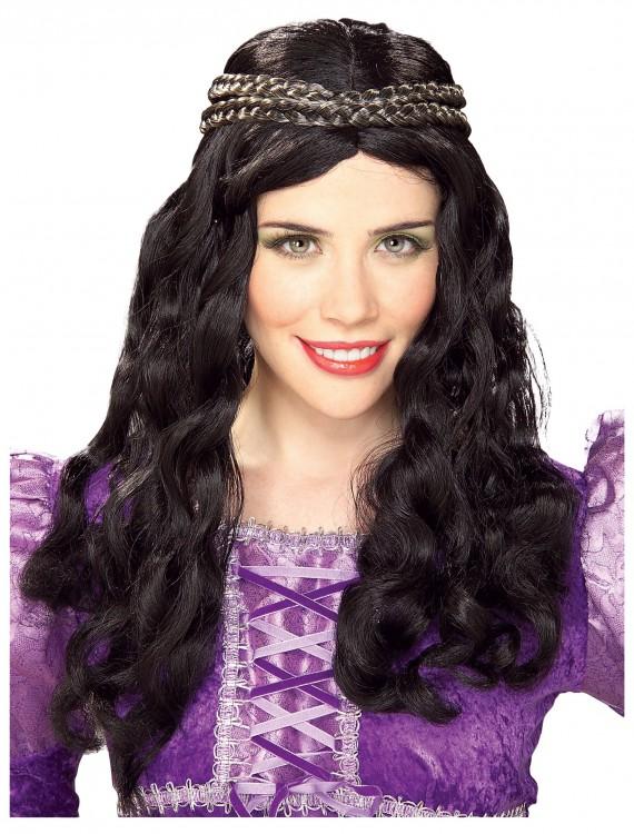 Renaissance Girl Black Wig, halloween costume (Renaissance Girl Black Wig)