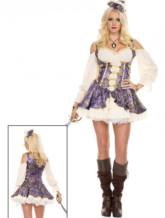 Renaissance Medieval Pirate Wench Costume, halloween costume (Renaissance Medieval Pirate Wench Costume)