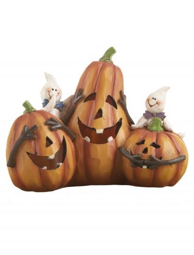 Resin LED Pumpkin Trio, halloween costume (Resin LED Pumpkin Trio)