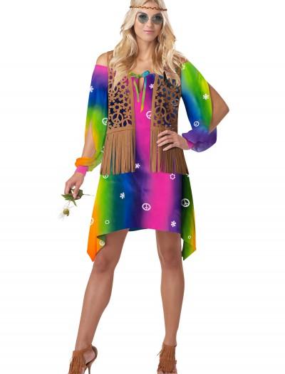 Retro Hippie Chick Costume, halloween costume (Retro Hippie Chick Costume)