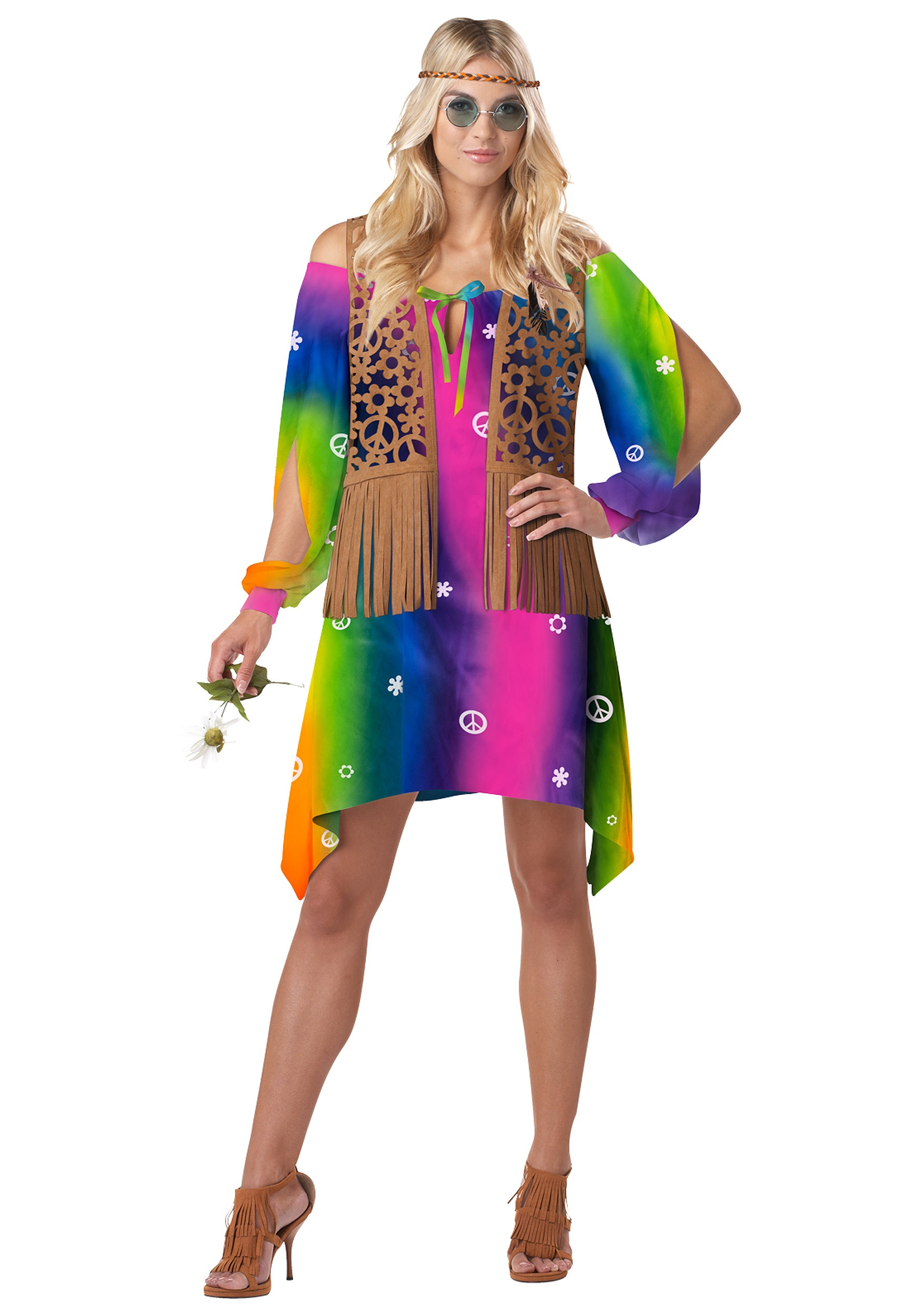 Retro Hippie Chick Costume Halloween Costumes