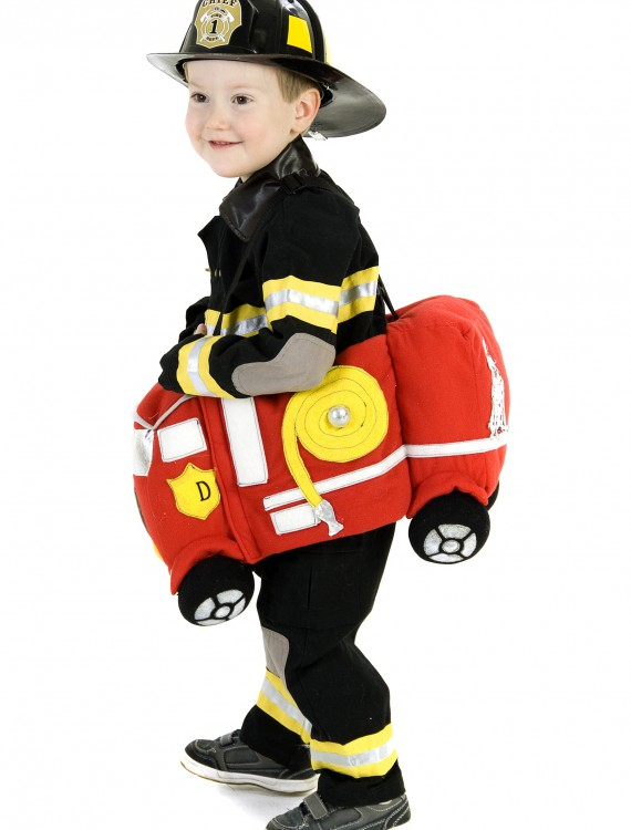 Ride in a Fire Truck Costume, halloween costume (Ride in a Fire Truck Costume)