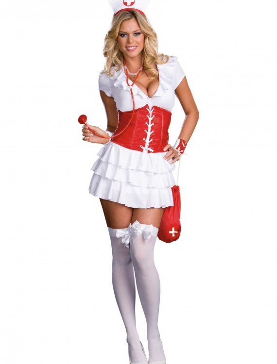 RN Trouble Nurse Costume, halloween costume (RN Trouble Nurse Costume)