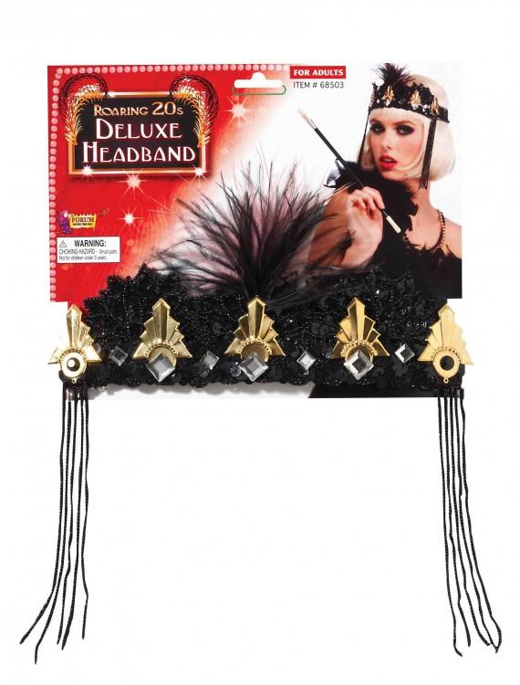 Roaring 20's Deluxe Beaded Flapper Headband, halloween costume (Roaring 20's Deluxe Beaded Flapper Headband)