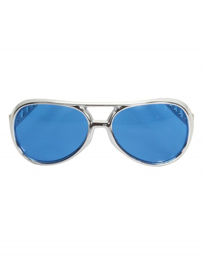 Rock & Roller Glasses Silver and Blue, halloween costume (Rock & Roller Glasses Silver and Blue)