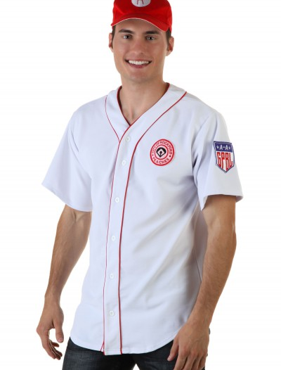 Rockford Peaches Men's Jersey, halloween costume (Rockford Peaches Men's Jersey)