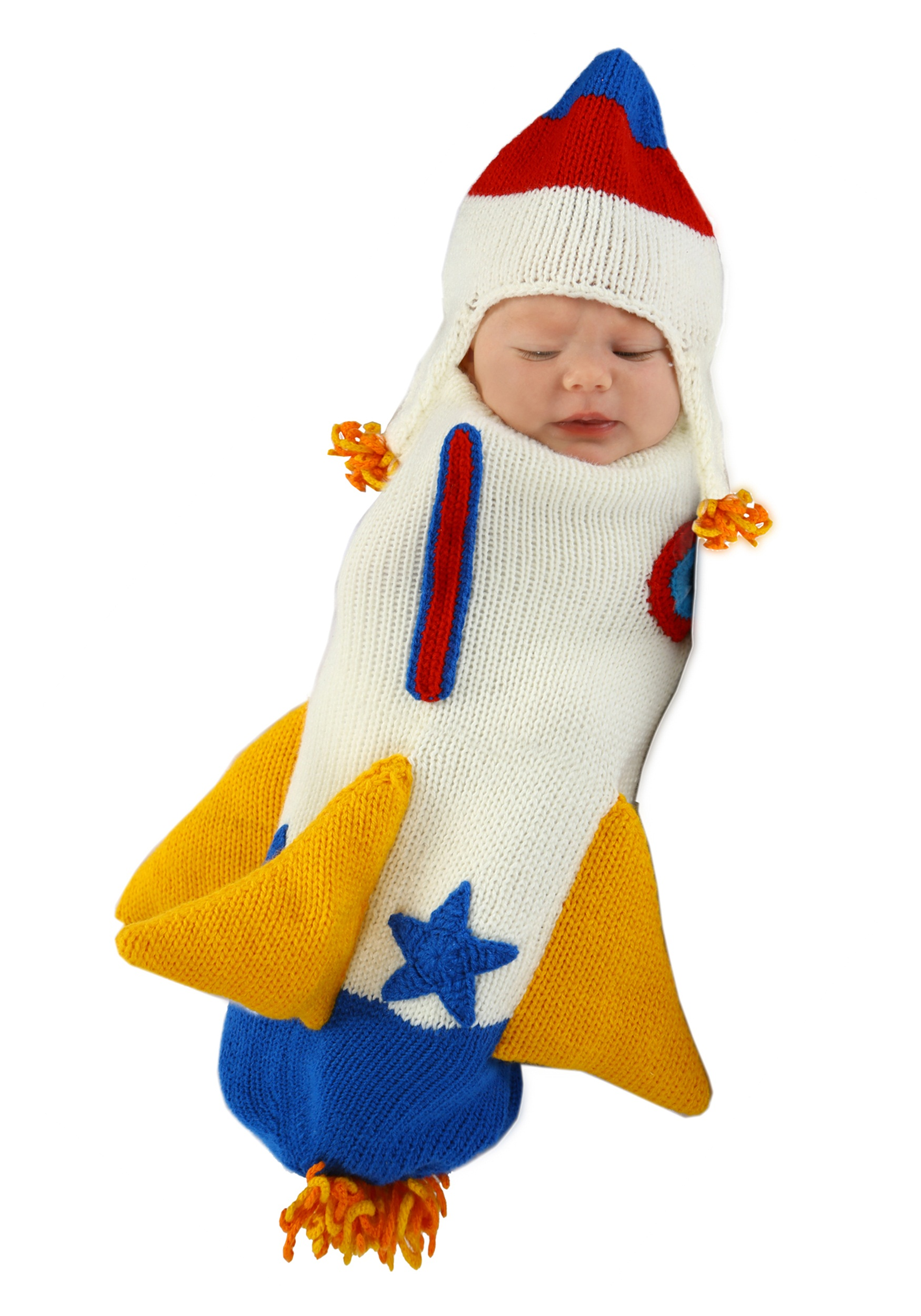 Roger the Rocket Ship Knitted Bunting  Halloween Costumes