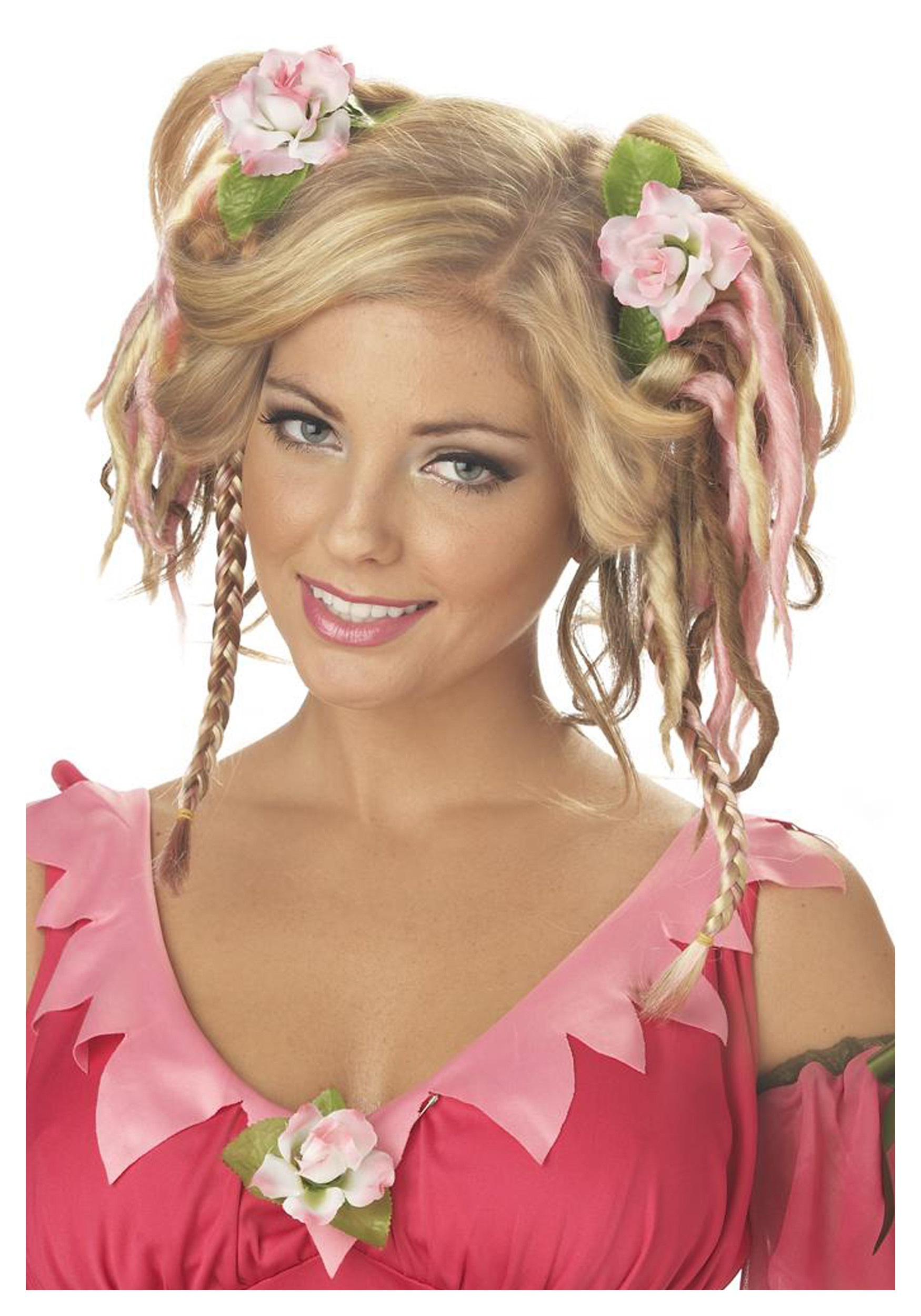 rose fairy hair clips - halloween costumes