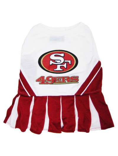 San Francisco 49ers Cheerleader Dog Costume, halloween costume (San Francisco 49ers Cheerleader Dog Costume)