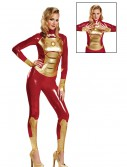 Sassy Iron Man Mark 42 Lycra Bodysuit Costume, halloween costume (Sassy Iron Man Mark 42 Lycra Bodysuit Costume)