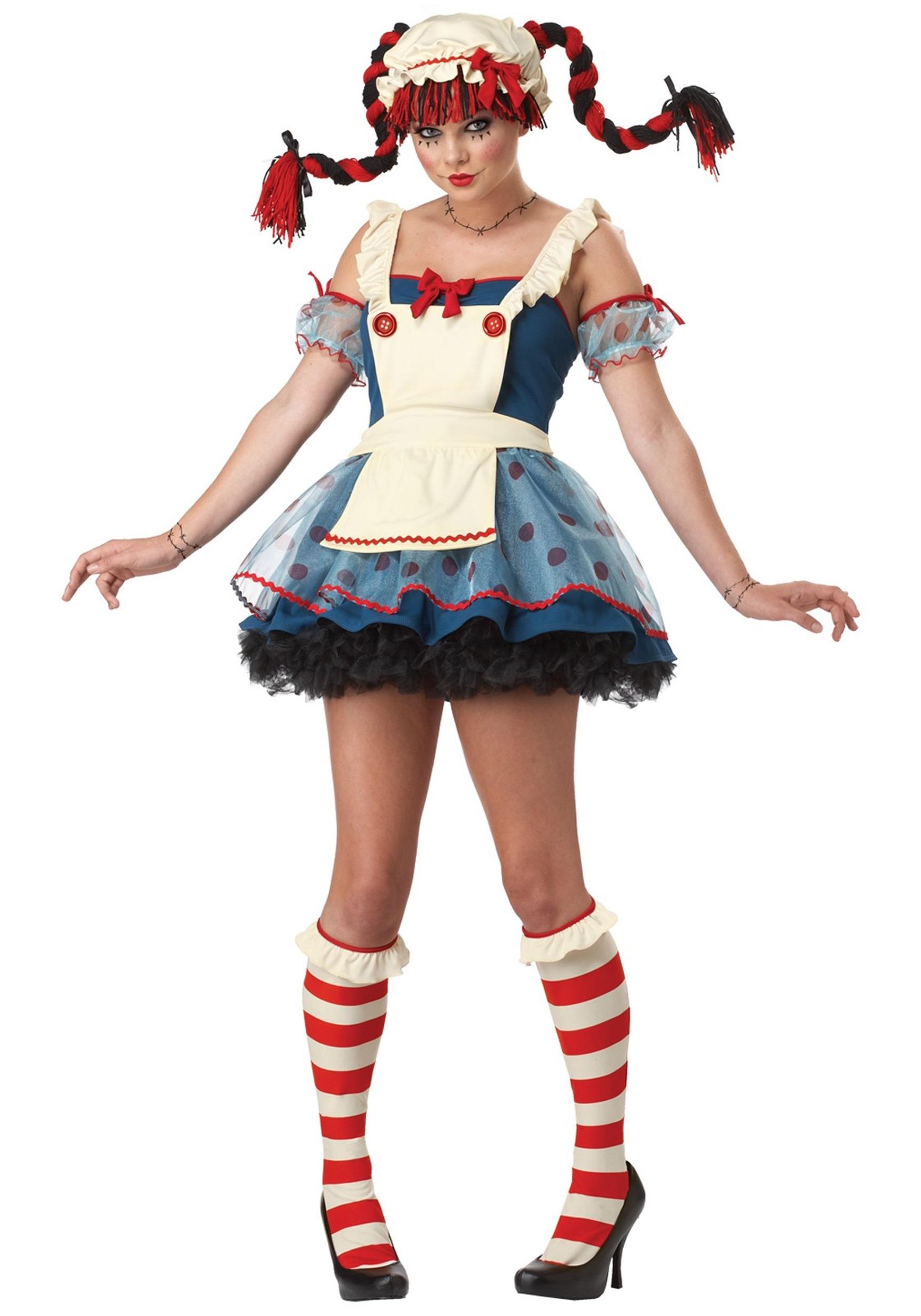 sassy teen rag doll costume