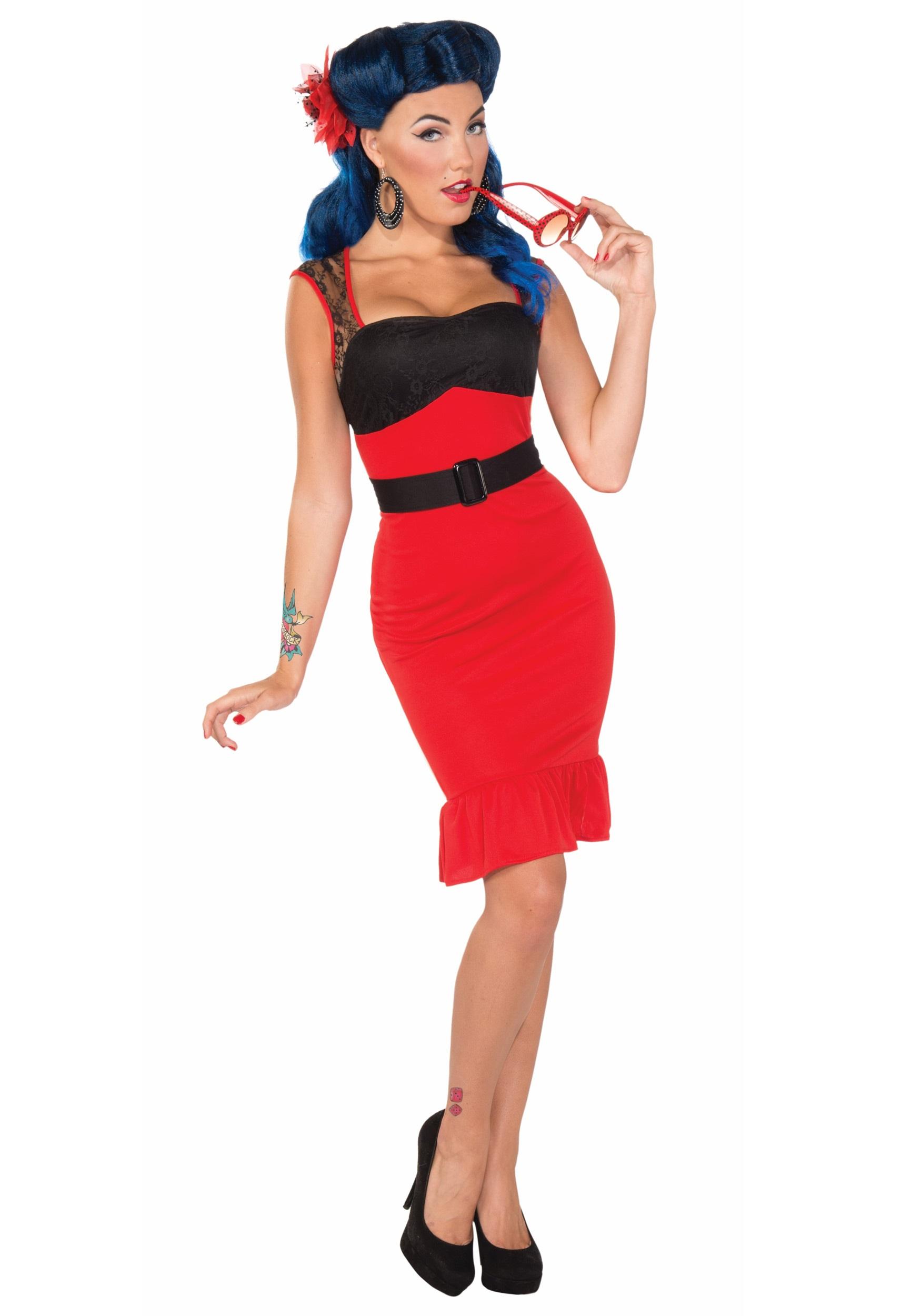 Scarlet Rose Rock-a-billy Dress  sc 1 st  Halloween Costumes & Scarlet Rose Rock-a-billy Dress - Halloween Costumes
