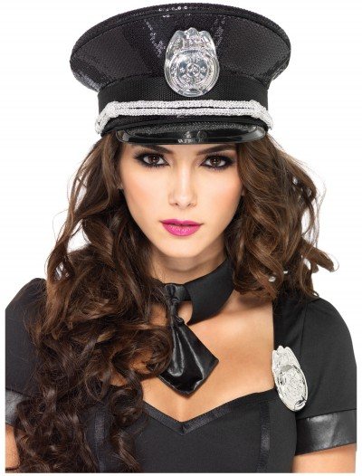 Sequin Cop Hat, halloween costume (Sequin Cop Hat)