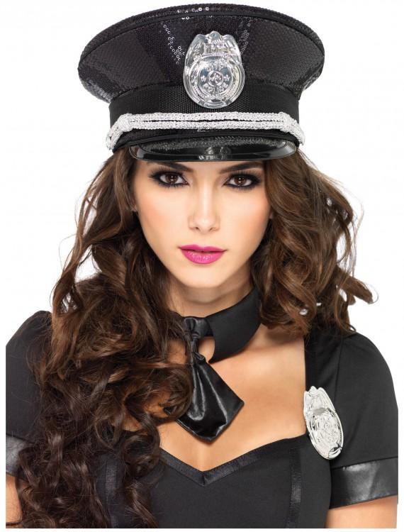 Sequin Cop Hat, halloween costume (Sequin Cop Hat)