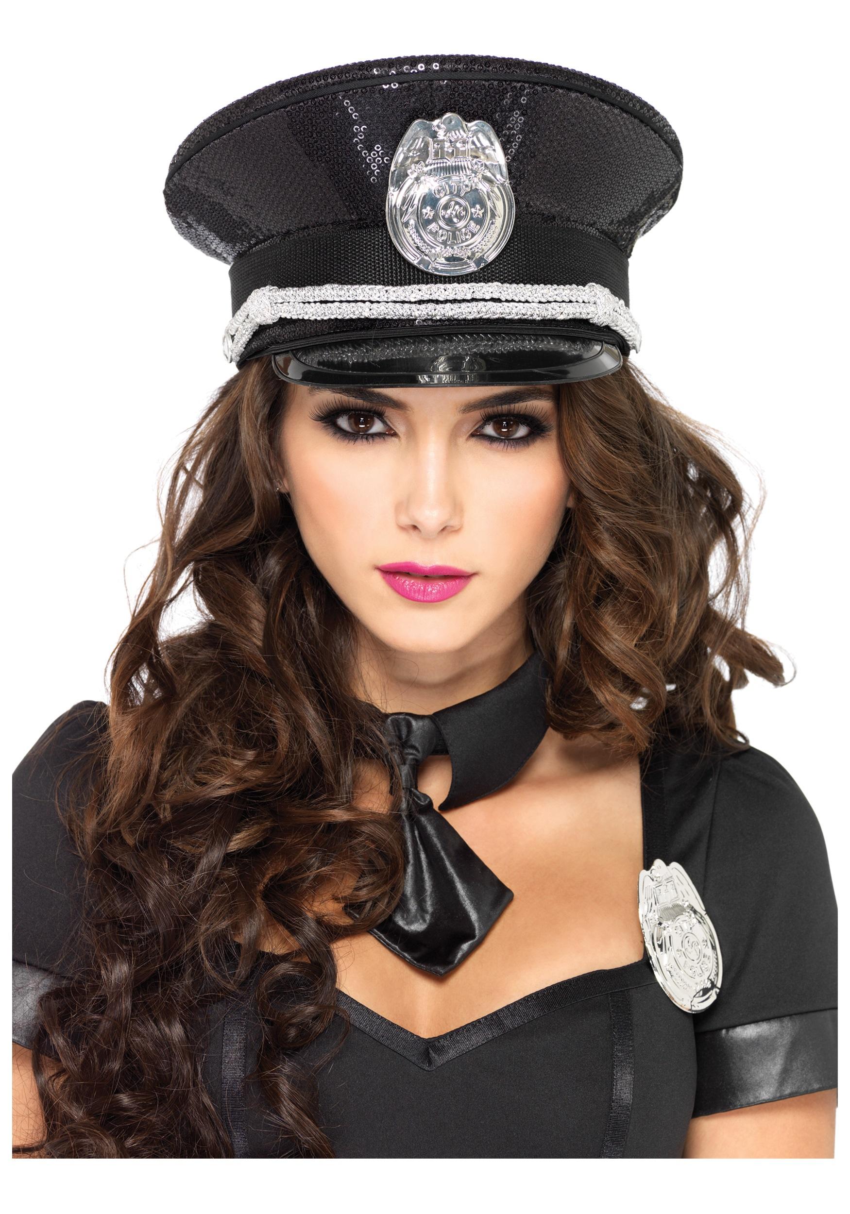 Sequin Cop Hat  sc 1 st  Halloween Costumes & Sequin Cop Hat - Halloween Costumes
