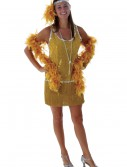 Sequin & Fringe Gold Flapper Costume Plus Size, halloween costume (Sequin & Fringe Gold Flapper Costume Plus Size)