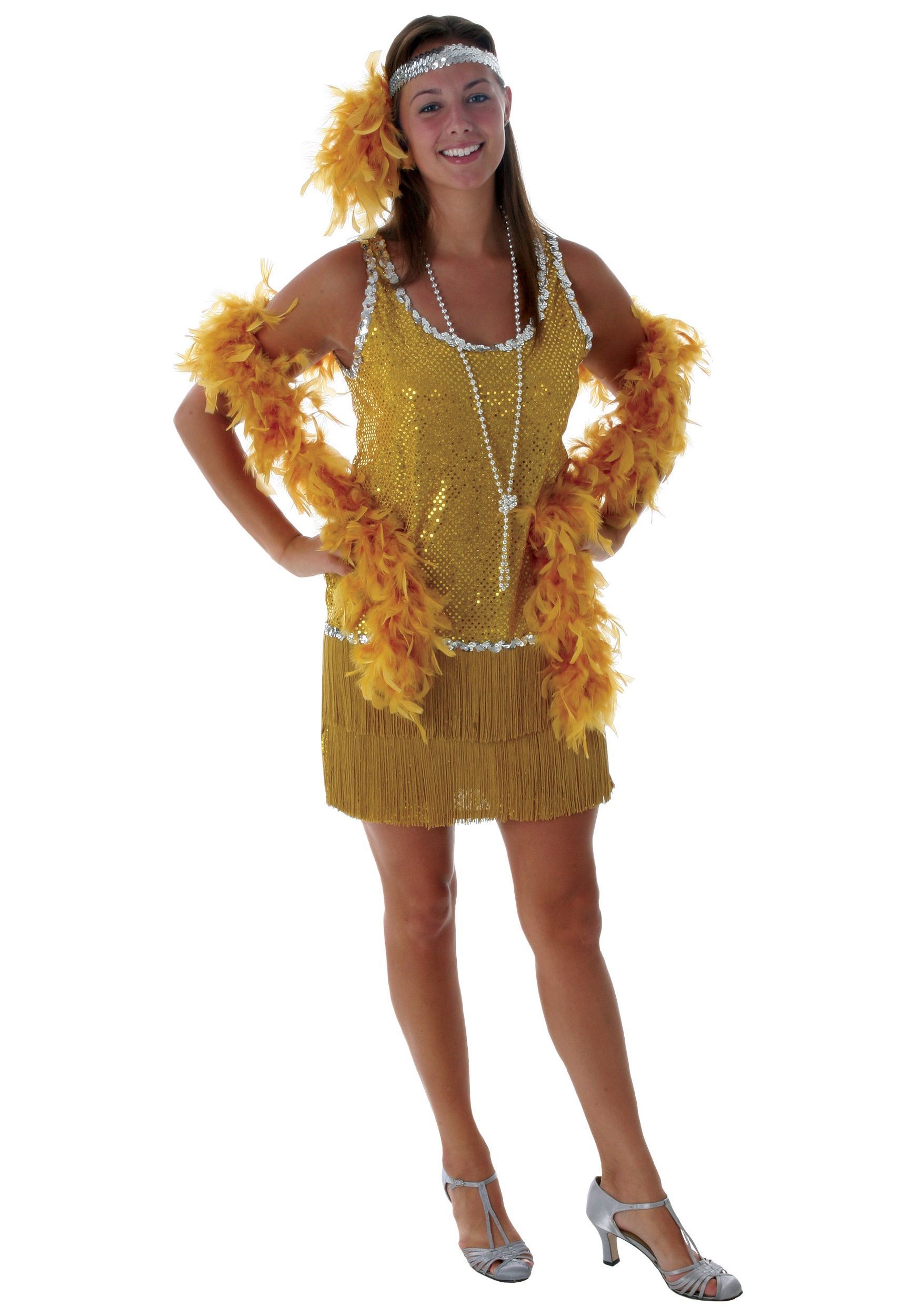 lady dress ladies us costumes gold morph costume disco