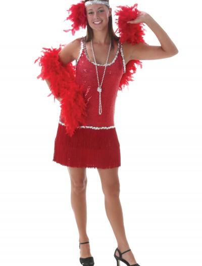 Sequin & Fringe Red Flapper Costume, halloween costume (Sequin & Fringe Red Flapper Costume)