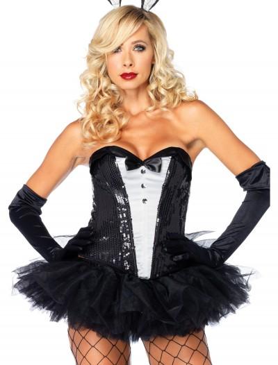 Sequin Tuxedo Corset, halloween costume (Sequin Tuxedo Corset)