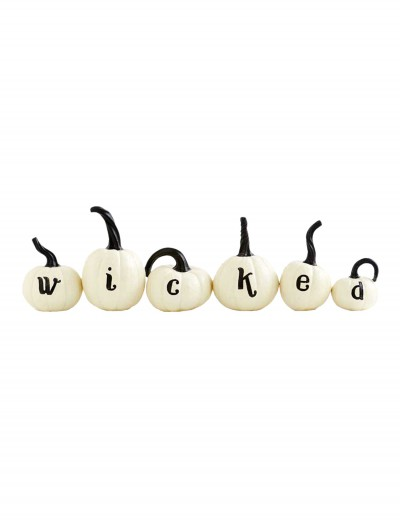 Set of 6 White Wicked Pumpkins, halloween costume (Set of 6 White Wicked Pumpkins)