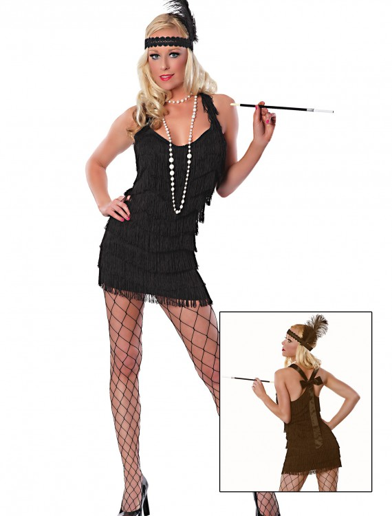 Sexy Black Lindy Lace Flapper Costume, halloween costume (Sexy Black Lindy Lace Flapper Costume)