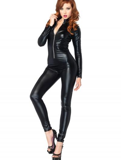 Sexy Black Zipper Catsuit, halloween costume (Sexy Black Zipper Catsuit)