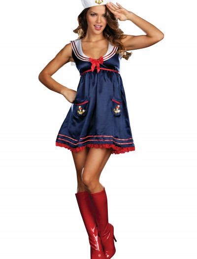 Sexy Blue Sailor Girl Costume, halloween costume (Sexy Blue Sailor Girl Costume)