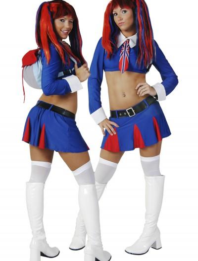 Sexy British School Girl Costume, halloween costume (Sexy British School Girl Costume)