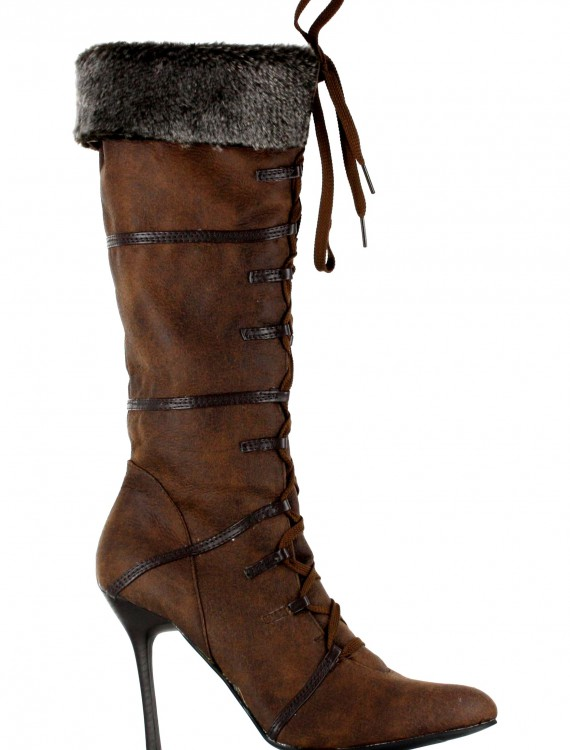 Sexy Brown Viking Boots, halloween costume (Sexy Brown Viking Boots)