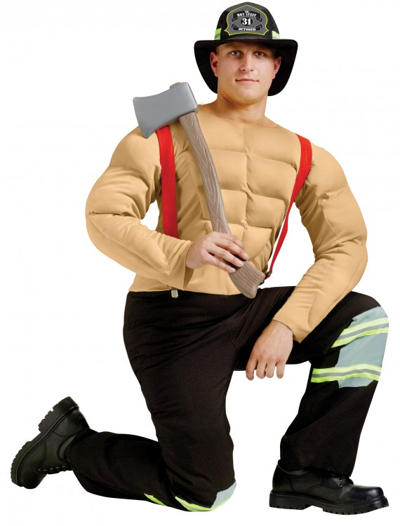 Sexy Calendar Fireman Costume, halloween costume (Sexy Calendar Fireman Costume)