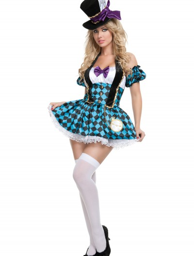Sexy Checkered Mad Hatter Costume, halloween costume (Sexy Checkered Mad Hatter Costume)