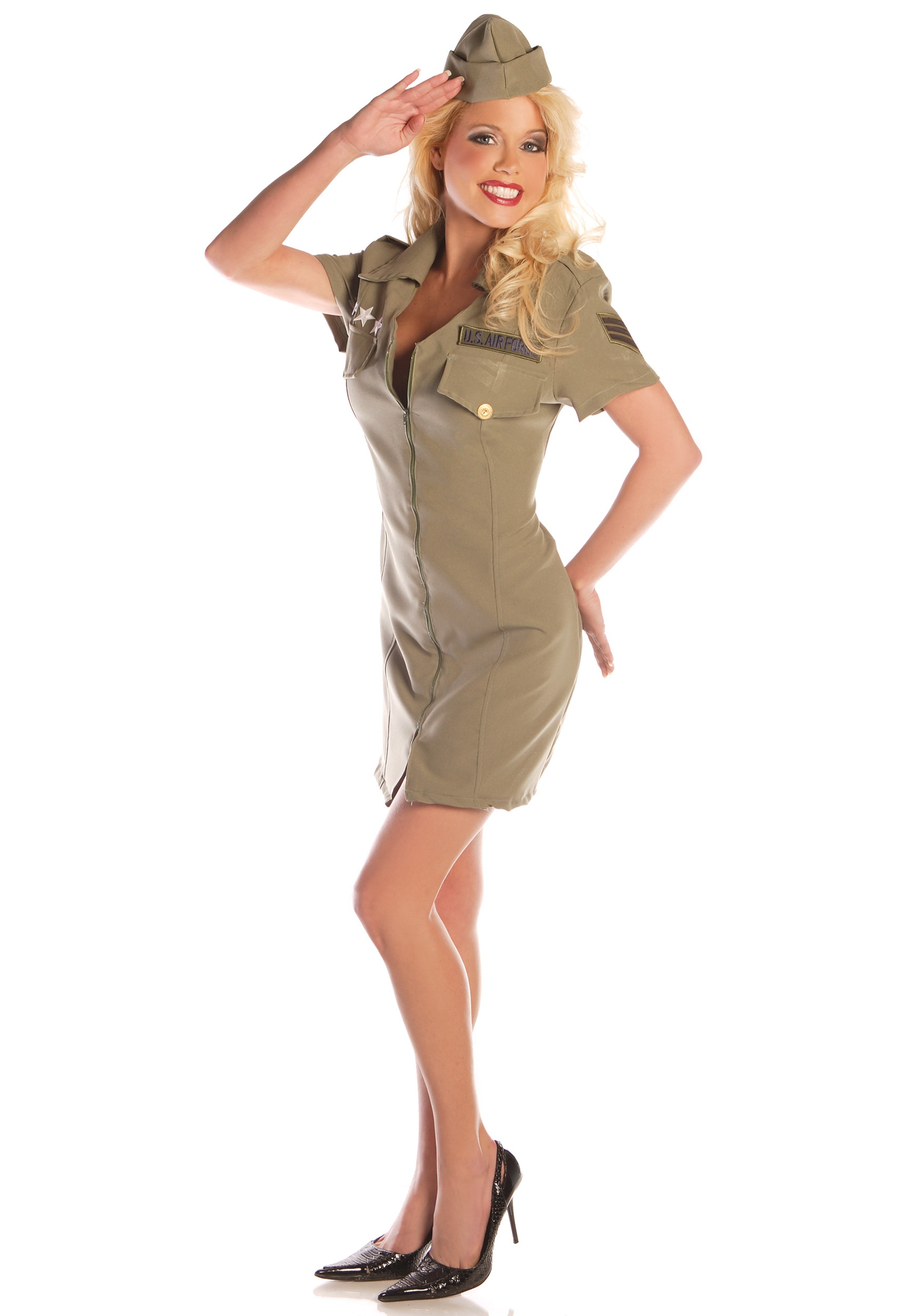 7688b2f8298 Sexy Fly Girl Military Costume