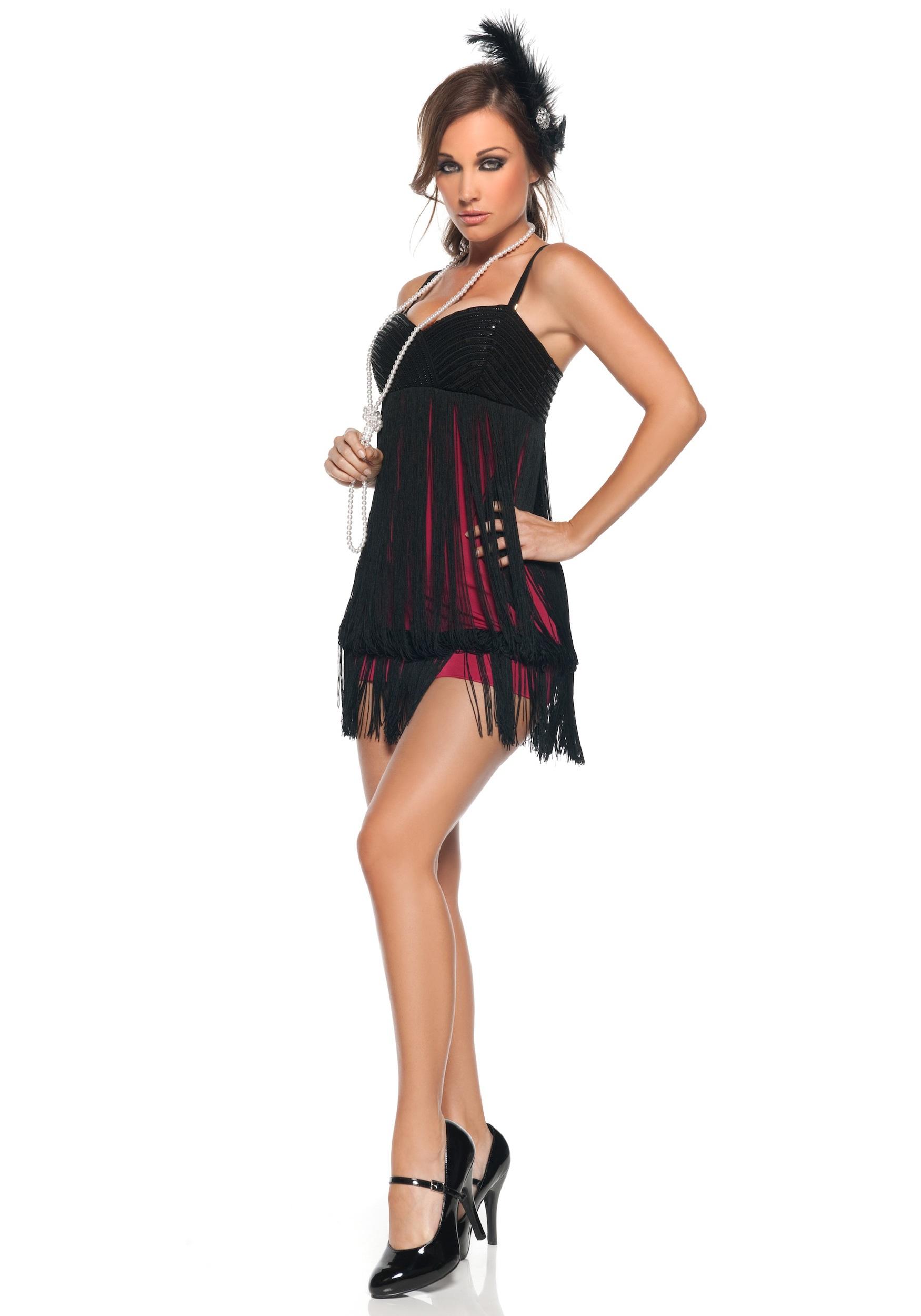 sexy fringe flapper costume