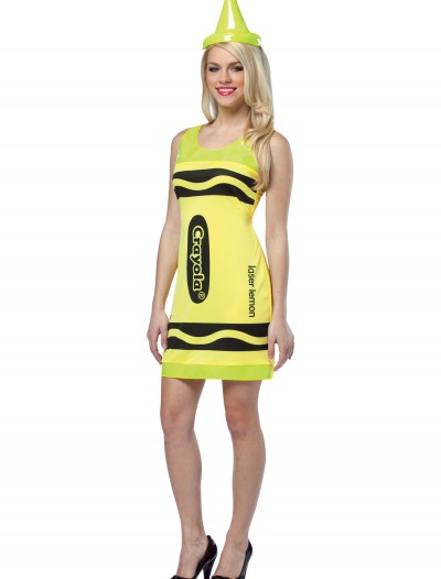 Sexy Laser Lemon Crayon Dress, halloween costume (Sexy Laser Lemon Crayon Dress)