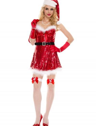 Sexy Miss Sequin Santa Costume, halloween costume (Sexy Miss Sequin Santa Costume)